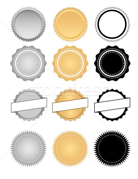 étiquettes badges cire emblème classique Photo stock © jeff_hobrath