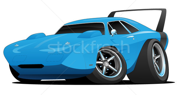 Stockfoto: Klassiek · amerikaanse · muscle · car · hot · rod · hot · cartoon