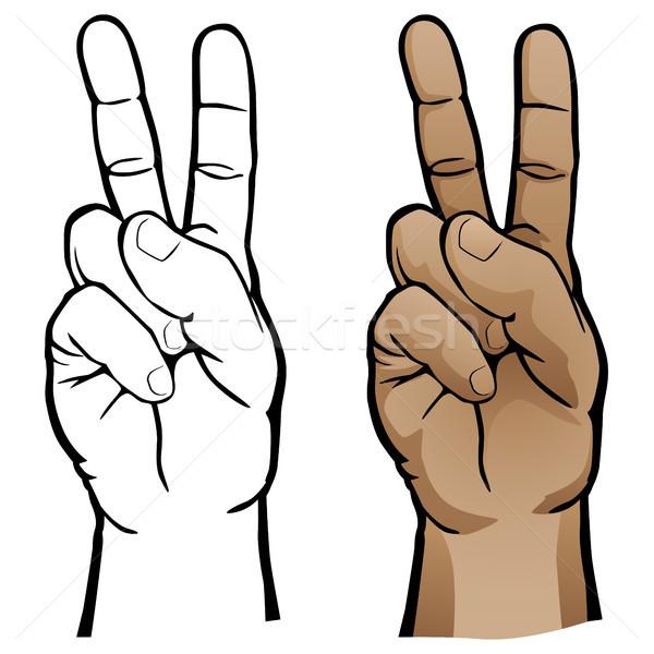 El barış imzalamak insan eli jest yumuşak Stok fotoğraf © jeff_hobrath