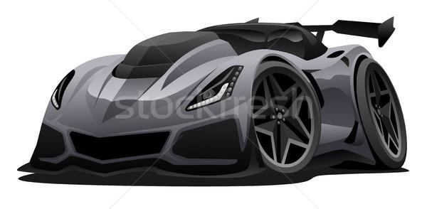Modern American Sports Car Vector Illustration Stock photo © jeff_hobrath