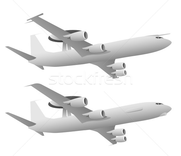 AWACS Airborne Warning and Control System Aircraft Stock photo © jeff_hobrath