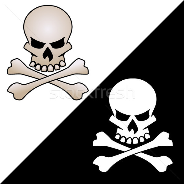 Kafatası kemikleri vektör logo örnek temizlemek Stok fotoğraf © jeff_hobrath