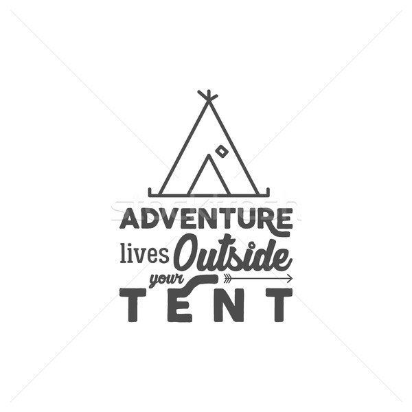 Kamp logo matbaacılık seyahat elemanları Stok fotoğraf © JeksonGraphics
