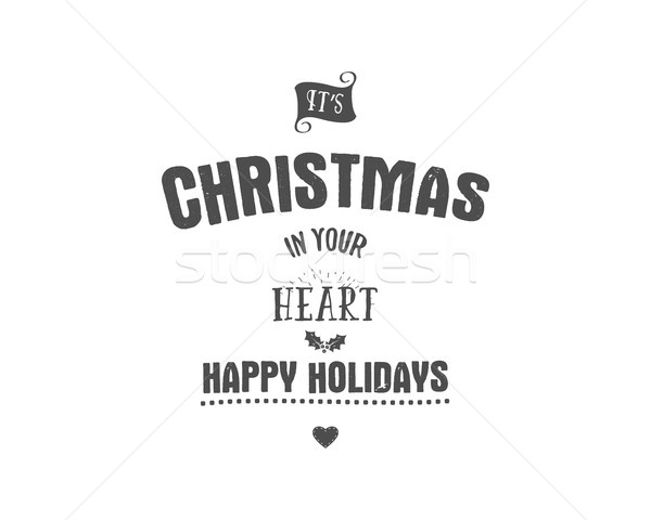Joyeux Noël fêtes cartes Photo stock © JeksonGraphics