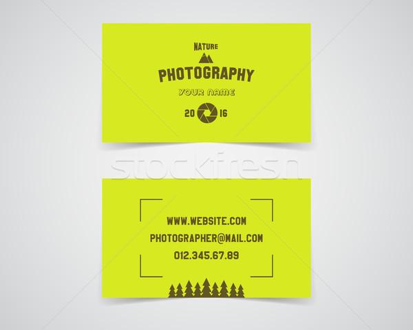 Nowoczesne świetle wizytówkę szablon charakter fotografii Zdjęcia stock © JeksonGraphics