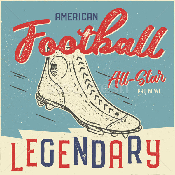 Classic usa football t shirt design. American football tee graphic design. All star bowl sign. USA f Stock photo © JeksonGraphics