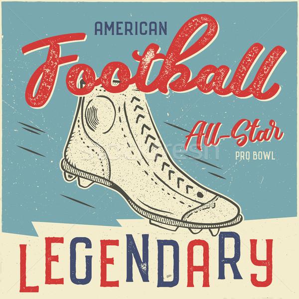 классический США футбола дизайна американский Сток-фото © JeksonGraphics