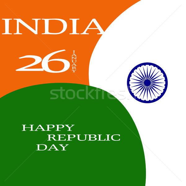 Elegant Indian flag theme background of Happy Republic day. 26 january Stock photo © JeksonGraphics