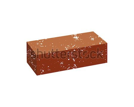 Just Grunge Brick icon. You can use it as logo template - add text, label, badge or your own creativ Stock photo © JeksonGraphics