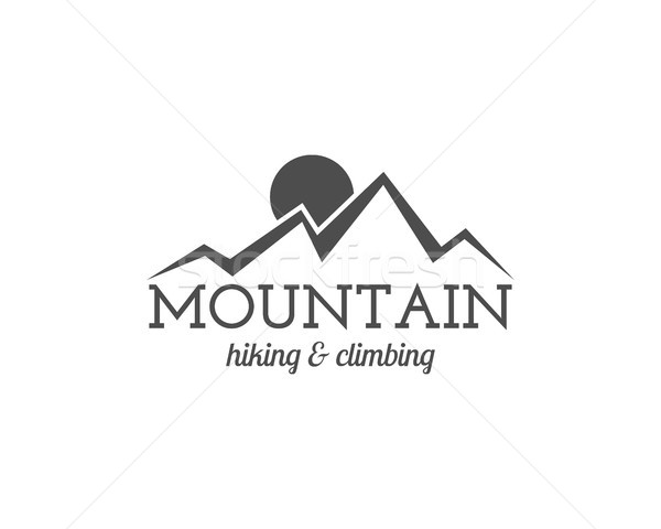 Vintage summer camp badge and other outdoor logo, emblem and label. Hiking and climbing concept, mon Stock photo © JeksonGraphics