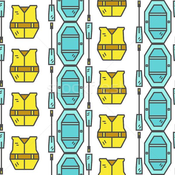 ラフティング 屋外 スタイル 薄い ストックフォト © JeksonGraphics