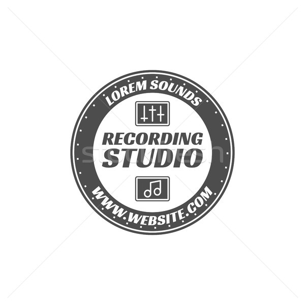 Vector label badge embleem logo Stockfoto © JeksonGraphics