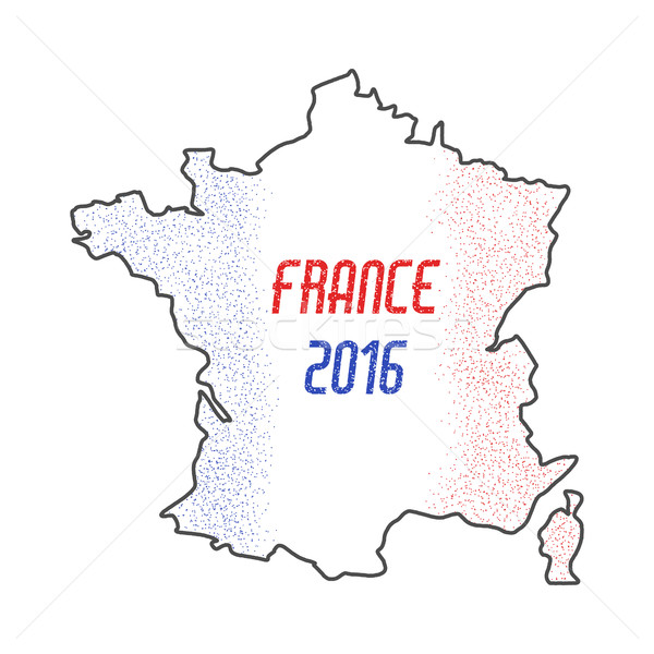 Francia euros campeonato 2016 resumen diseno Foto stock © JeksonGraphics