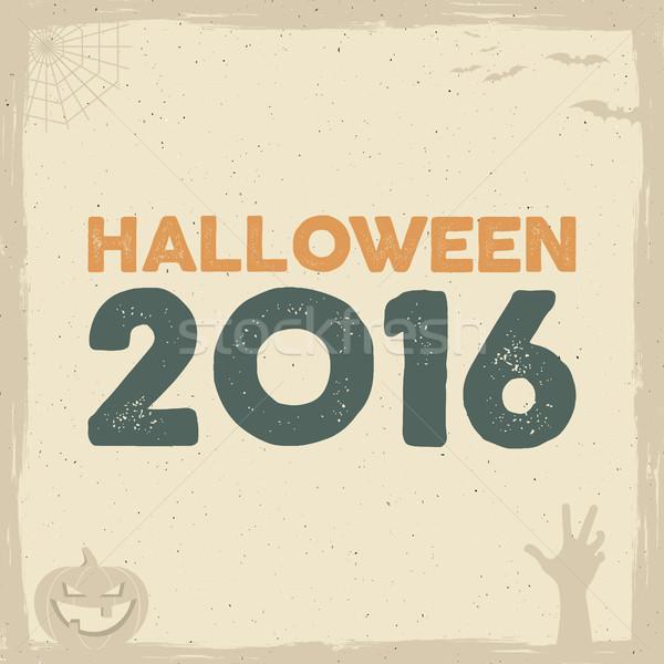 Feliz halloween cartaz modelo férias símbolos Foto stock © JeksonGraphics