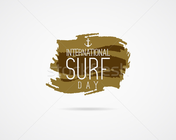 International surfing day graphic elements. surfing day typography emblem. Surfer party banner or si Stock photo © JeksonGraphics