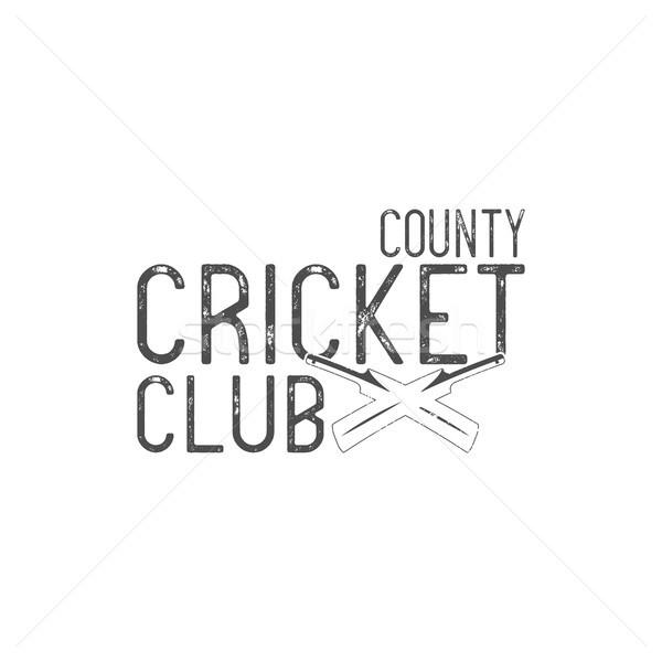Krikett klub embléma terv elemek logo Stock fotó © JeksonGraphics