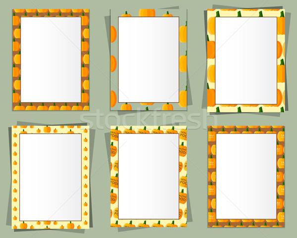 Formato papel diseno vector texto marco de imagen Foto stock © JeksonGraphics