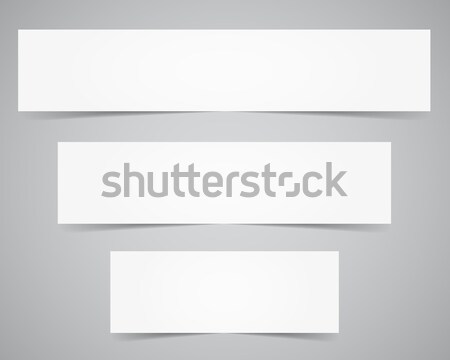Corporate identity, banners template. Branding letterhead. Business identity kit. Paper edition. Pla Stock photo © JeksonGraphics