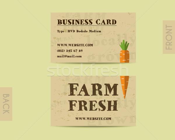 Photo stock: élégant · ferme · fraîches · carte · modèle · carotte