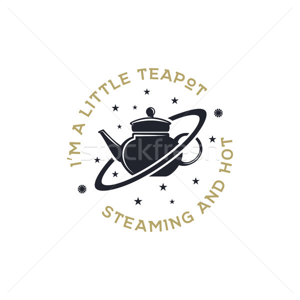 Vintage science poster and background with Russell s teapot and typography elements. Science backgro Stock photo © JeksonGraphics