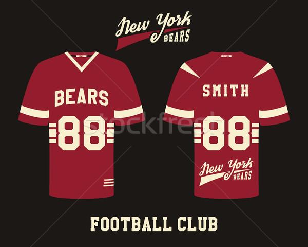 Amerikaanse voetbal uniform tshirt ontwerp team Stockfoto © JeksonGraphics