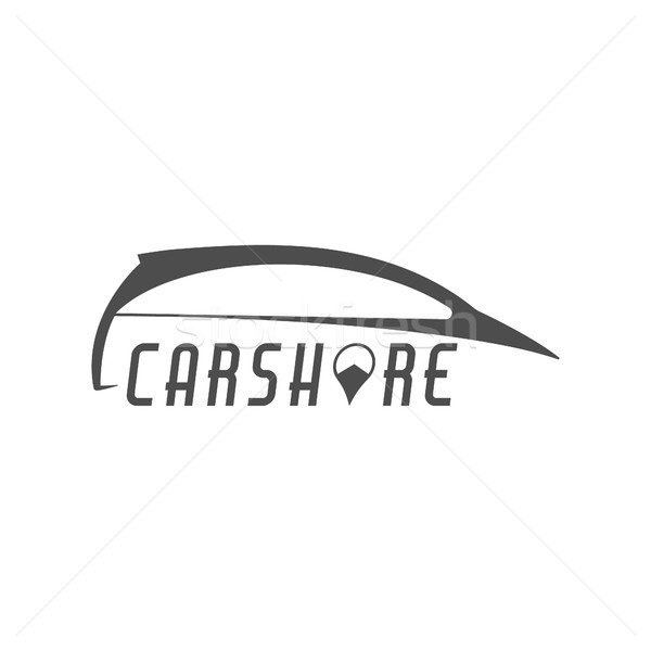 Car share logo design. Car Sharing vector concept. Collective usage of cars via web application. Car Stock photo © JeksonGraphics