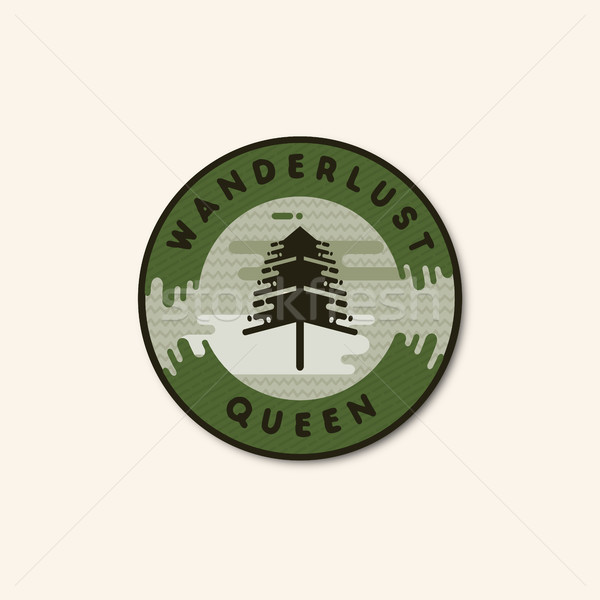 Vintage hand drawn adventure themed retro badge.Logo is perfect for T-Shirts, migs, prints, branding Stock photo © JeksonGraphics