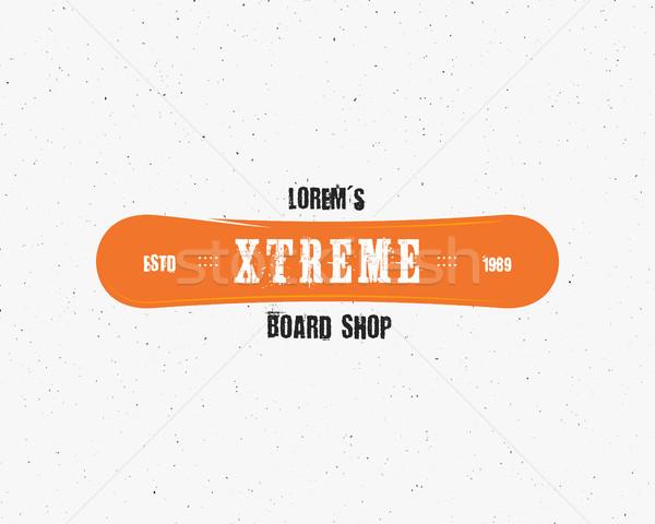 Snowboard estrema shop logo etichetta modelli Foto d'archivio © JeksonGraphics