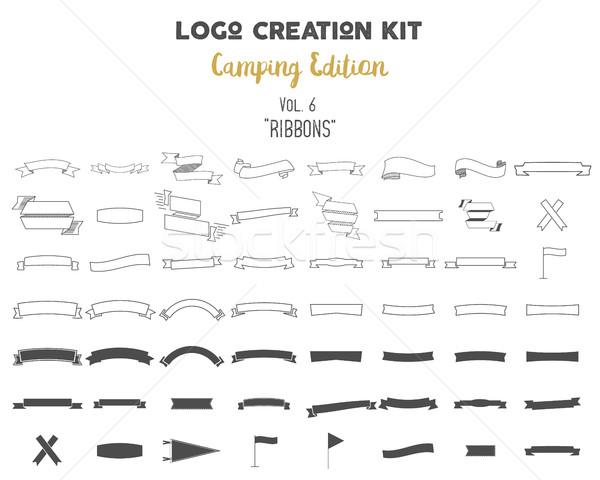 ロゴ 創造 キット キャンプ セット ストックフォト © JeksonGraphics