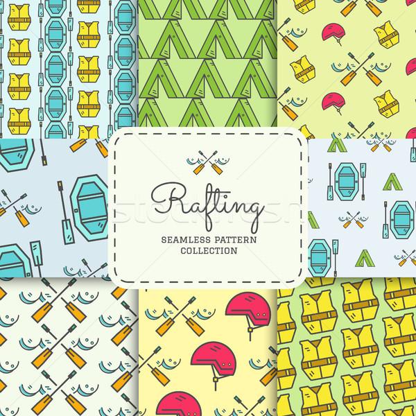 Rafting colección aire libre estilo Foto stock © JeksonGraphics