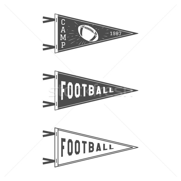 College Football Pennant Flags Set. Vector Football pendant Icons. University USA Sport flag, isolat Stock photo © JeksonGraphics