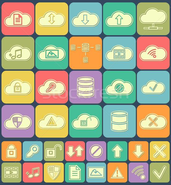 Bulut depolama veri analiz veritabanı ağ Stok fotoğraf © JeksonGraphics
