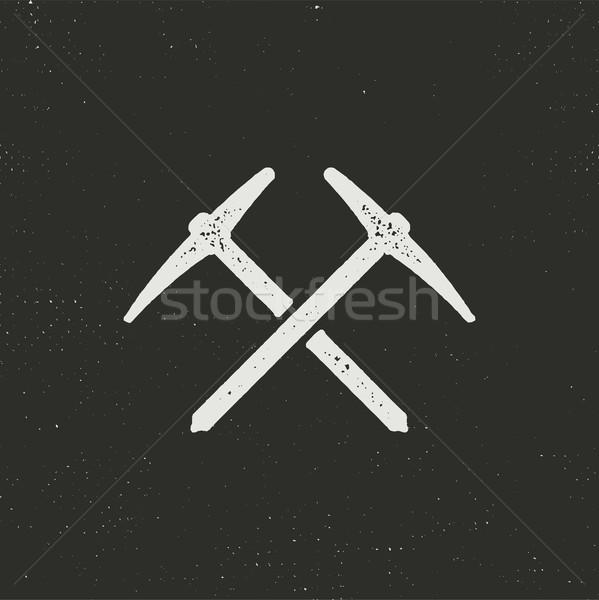 Klimmen silhouet icon solide pictogram Stockfoto © JeksonGraphics
