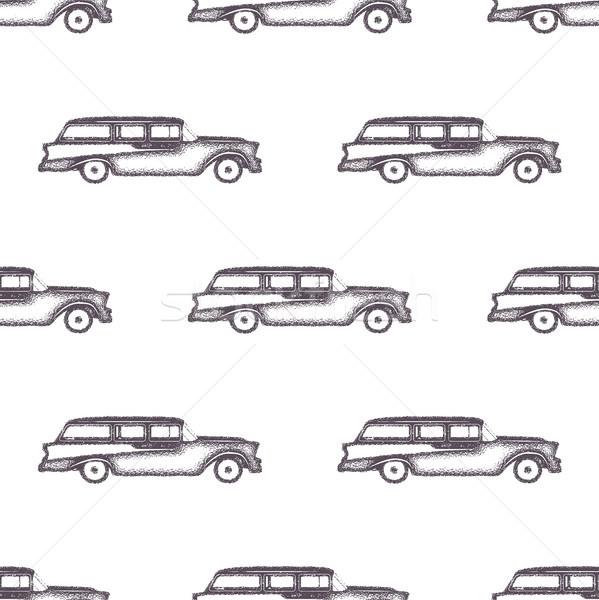 Szörfözik öreg stílus autó minta terv Stock fotó © JeksonGraphics