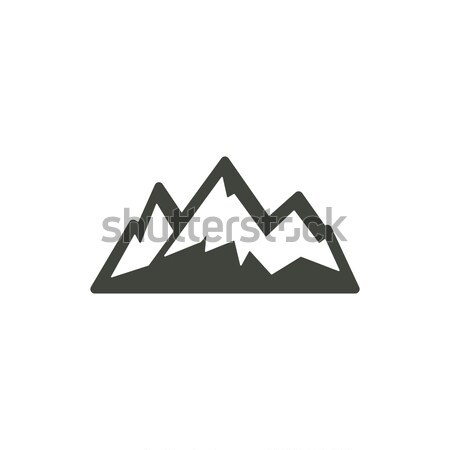 Mountain icon symbol. Silhouette mountain pictogram. Stock mountain element isolated on white backgr Stock photo © JeksonGraphics
