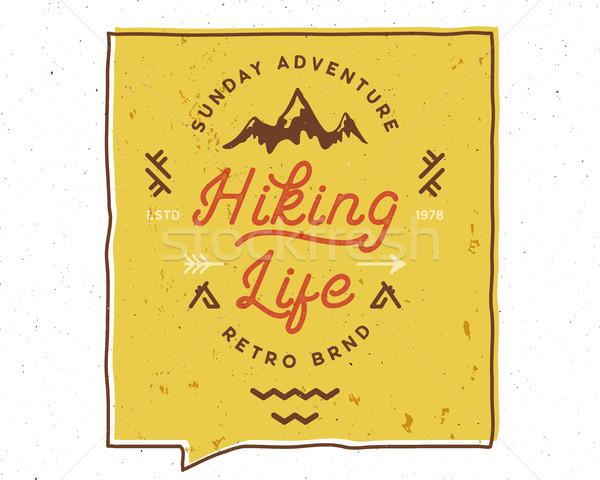 Kirándulás élet ösztönző kreatív motiváció idézet Stock fotó © JeksonGraphics