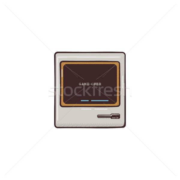 Oude pc icon ontwerp cute retro Stockfoto © JeksonGraphics