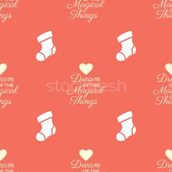 Karácsony végtelen minta karácsony hátterek textúrák gyűjtemény Stock fotó © JeksonGraphics