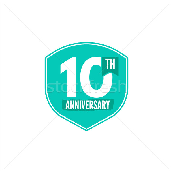 Anniversary badge. Vector illustration isolated Stock photo © JeksonGraphics