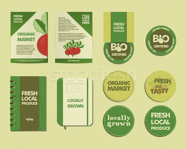 Farm Fresh Identity Stock photo © JeksonGraphics