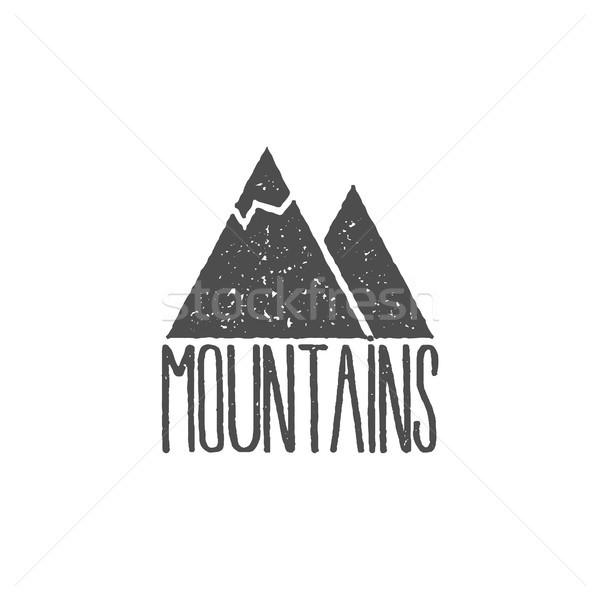 рисованной горные Знак старые стиль Сток-фото © JeksonGraphics