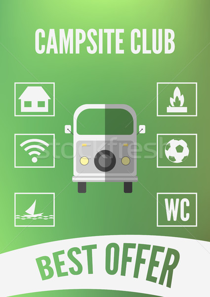 Campsite Club Promotion Infographic Stock photo © JeksonGraphics