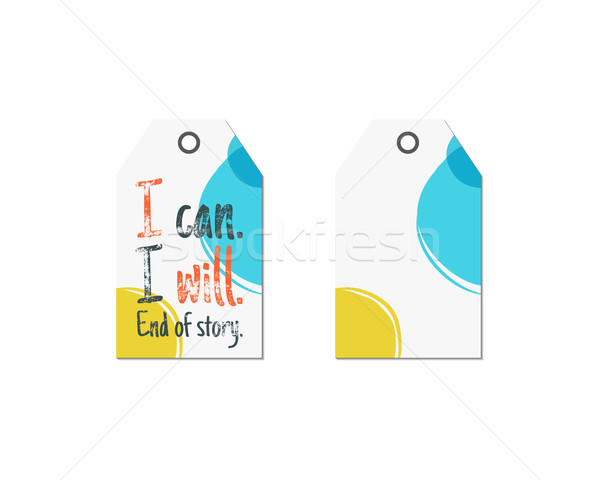 Creative tag with inspiration typography saying, sign. Inspiration label, artwork and motivation vec Stock photo © JeksonGraphics