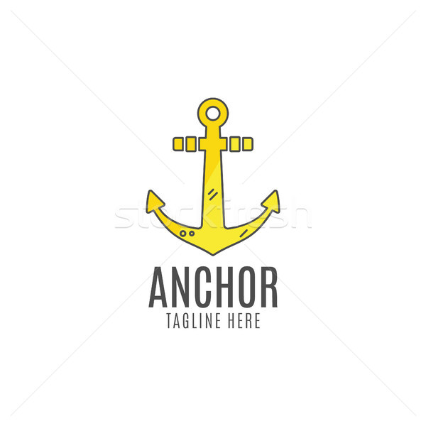 Anchor logo icon. Sea, sailor symbol. Anchor logo. Anchor icon. Anchor symbol, anchor tattoo. Flat s Stock photo © JeksonGraphics