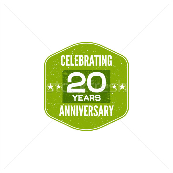 Stock photo: Celebrating 20 years anniversary badge, sign and emblem. Retro design. Easy to edit and use your num