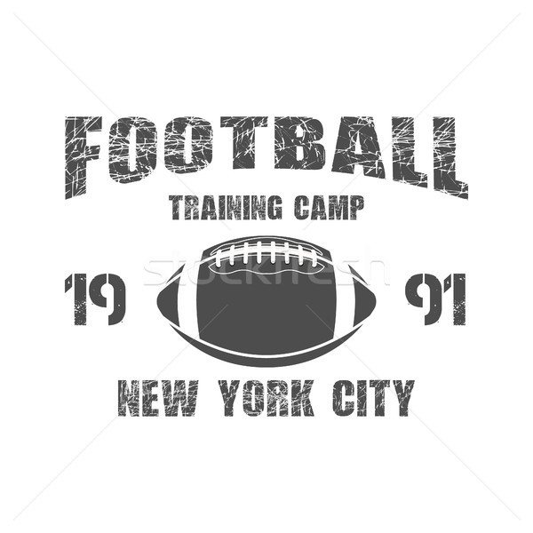 American football New York training camp badge, logo, label, insignia in retro color style. Graphic  Stock photo © JeksonGraphics