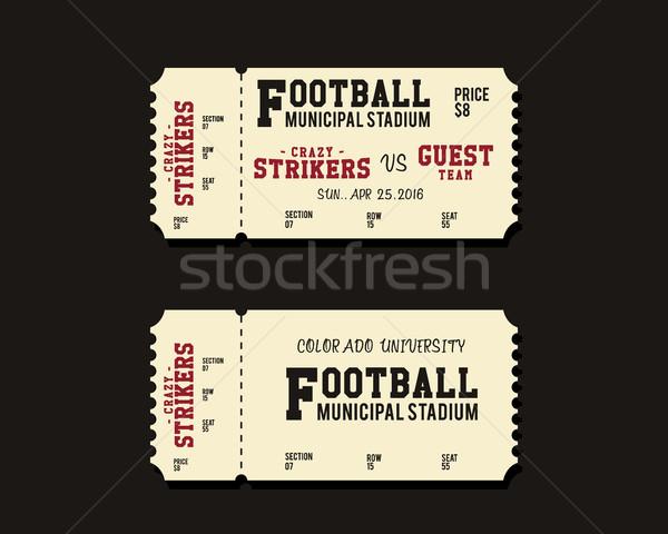 Americano futebol rugby futebol bilhete cartão Foto stock © JeksonGraphics