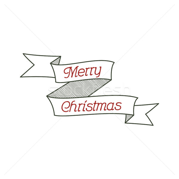 Happy Christmas typography wish sign. Vector illustration of  calligraphy label. Use for holiday pho Stock photo © JeksonGraphics