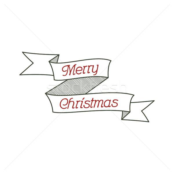 счастливым Рождества типографики знак каллиграфия Сток-фото © JeksonGraphics