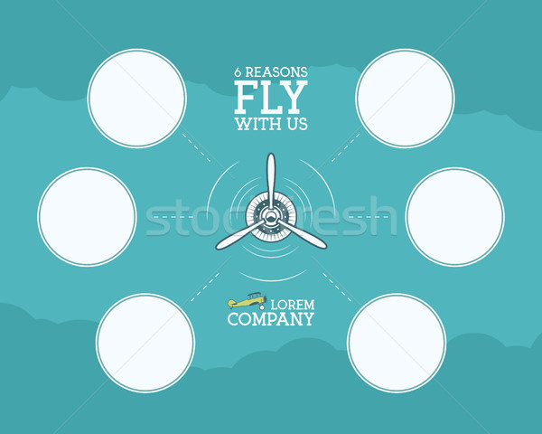 Vintage Airplane and travel infographics with empty forms, bubble for statistics, business diagrams, Stock photo © JeksonGraphics